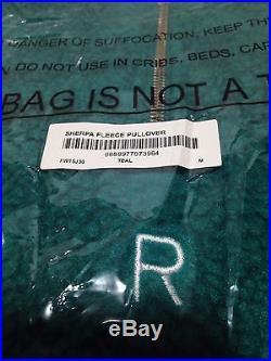 SUPREME 2015 S/S CDG BOX LOGO PLAYBOY PCL SHERPA FLEECE PULLOVER TEAL MED MEDIUM