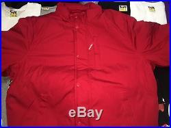 Supreme 2016 S/s Cdg Box Logo Astronaut Puffy Jacket S-xl Coat Nasa Red