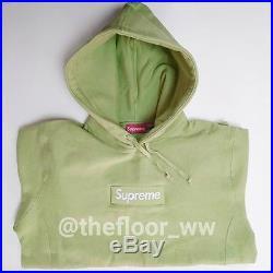 Supreme Box Logo Hooded Sweatshirt Size L Sage Green Peach Grey Red White Camo