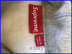 SUPREME BOX LOGO HOODIE/ HOODED SWEATSHIRT F/W 16 100% AUTHENTIC Grey Large