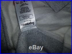 SUPREME BOX LOGO HOODIE/ HOODED SWEATSHIRT F/W 16 100% AUTHENTIC Grey Medium