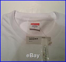 SUPREME BOX LOGO White Tee T-Shirt Sz XL X-Large 20TH ANNIVERSARY PCL CDG 2014