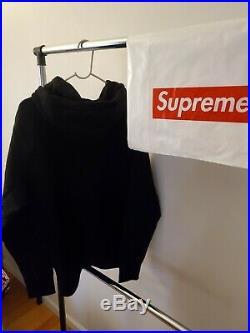 SUPREME Bandana Box Logo Hooded Sweatshirt Heather Black Size L F/W 19