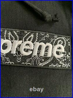 SUPREME Box Logo Bandana Hoodie Large (Black)