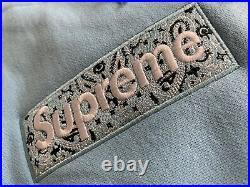 SUPREME Box Logo Bandana Hoodie Large (Blue)