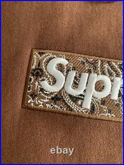 SUPREME Box Logo Bandana Hoodie XLarge (Brown)