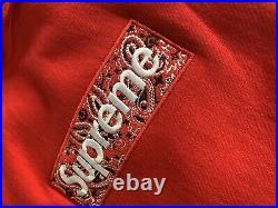 SUPREME Box Logo Bandana Hoodie XLarge (RED)