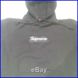 SUPREME Box Logo Hoodie Black/White F/W13