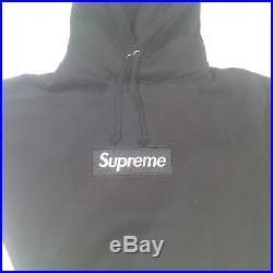 SUPREME Box Logo Hoodie Black/White Size M F/W13