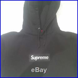 SUPREME Box Logo Hoodie Black/White Size S F/W13