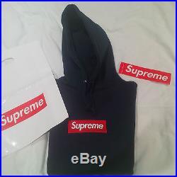 SUPREME Box Logo Hoodie Navy/Red Size M F/W13
