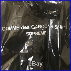 SUPREME COMME DES GARCONS SHIRT Fishtail Parka Black Sz M CDG play box logo NEW