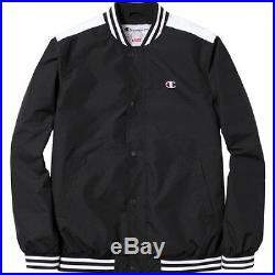 SUPREME Champion Warm Up Jacket Black M box logo safari hoodie garçon S/S 14