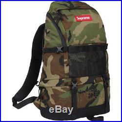 SUPREME Contour Backpack Woodland Camo box logo camp cap tnf bag F/W 15