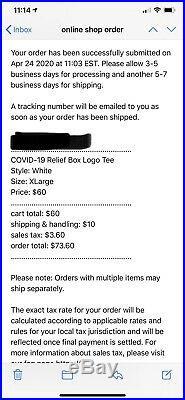 SUPREME Covid Relief Box Logo Tee