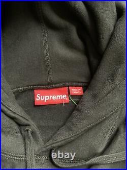 SUPREME Cross Box Logo Hoodie Large (BLACK)