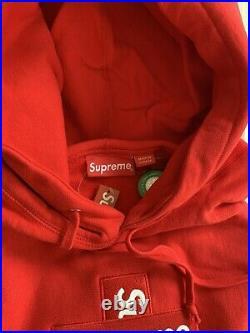 SUPREME Cross Box Logo Hoodie XLarge (RED)
