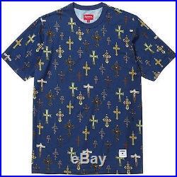 SUPREME Crosses Tee Shirt Royal M Box Logo garcons kate moss S/S 13 camp cap
