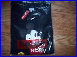 SUPREME DISNEY MICKEY THE MOUSE Black Structured TEE SHIRT sz LARGE NWT box logo