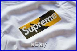 SUPREME FW17 Authentic Brooklyn Store opening Camo Bogo BOX LOGO TEE Large L