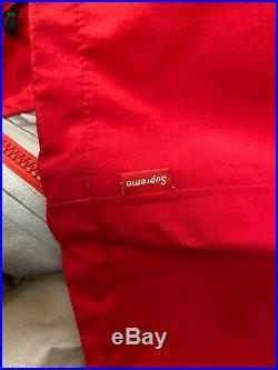 SUPREME F/W 17 Taped Seam Reflective Jacket Red Box Logo Camp Waterproof Size L