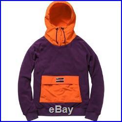 SUPREME Fleece Pullover Purple M box logo safari hoodie camp garçon F/W 13