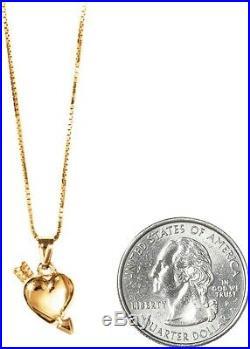 SUPREME Gold Heart and Arrow Pendant 14K SS17 Gold Chain Box Logo
