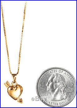 SUPREME Gold Heart and Arrow Pendant 14K box logo camp cap tnf lv S/S 17