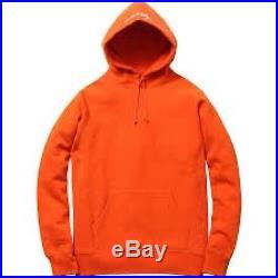 SUPREME Heather Pullover Jacket Orange M box logo hoodie camp garçon F/W 13