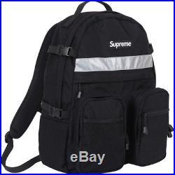 SUPREME Hi-Vis Backpack Black Box Logo camp kate moss comme F/W 14 north face