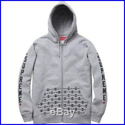 SUPREME Independent Zip Up Hoodie Grey L box logo safari comme F/W 12 camp