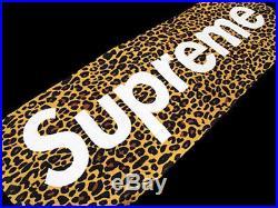 SUPREME LEOPARD TOWEL 2009 BOX LOGO safari camo red flag beach bling tee hoody