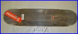 SUPREME Leda and the Swan Skateboard Deck Black 8.5 box logo S/S 19