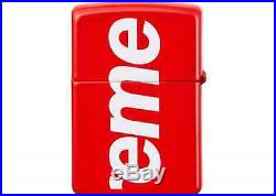 SUPREME Logo Zippo Red box logo camp cap tnf S/S 18