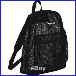 SUPREME Mesh Backpack Black box logo camp cap tnf cdg S/S 16