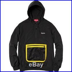 SUPREME Mesh Pocket Pullover Black M box logo safari camp cap S/S 14