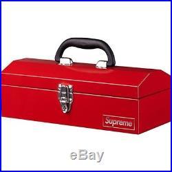 SUPREME Metal Toolbox Red camp cap Box Logo safari F/W 14