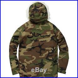 SUPREME Military Taped Seam Parka Woodland Camo M box logo hoodie camp S/S 15