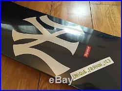 Supreme New York Yankees Blue Skate Deck Red Box Logo Skateboard Taxi Driver Ss1
