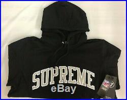 SUPREME NFL Raiders'47 Brand Hooded Sweatshirt Black M box logo S/S 19