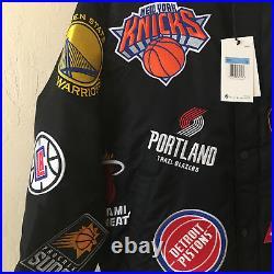 SUPREME NIKE NBA ALL STAR Teams Warm Up Basketball Varsity Sz M Box Logo Chicago