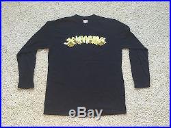 SUPREME NYC 2001 VINTAGE LONG SLEEVE BLACK TEE SZ L SHIRT RARE box logo cap deck