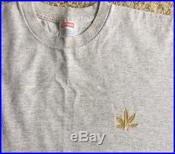 SUPREME NYC 2002 CHRONIC WEED TEE VINTAGE GRAY LARGE box logo cap hoodie shirt