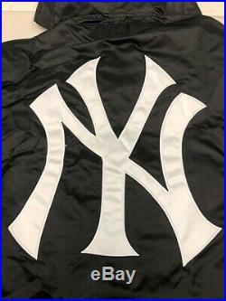SUPREME New York Yankees Satin Hooded Jacket Black XL box logo camp cap S/S 15