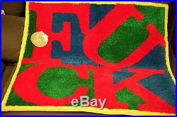 SUPREME OFFICIAL GALLERY 1950 CDG BOX LOGO FCK RUG CARPET DOOR MAT