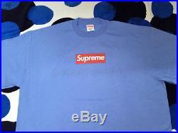 Supreme Og Red Box Logo Tee T-shirt Cdg Undercover Yankees Kermit XL Xlarge Blue