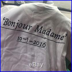 SUPREME PARIS BOX LOGO Opening Tee Black Bonjour Madame SizeS