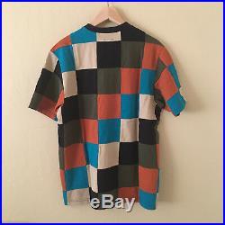 SUPREME Patchwork Pique Tee Shirt M Navy Orange Multi Color box logo RARE NEW