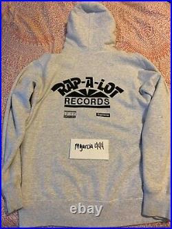 SUPREME Rap A Lot Records Geto Boys Hooded Sweatshirt GREY L box logo S/S 17