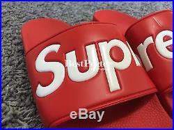 SUPREME SANDALS FLIP FLOP 2014 100 authentic box logo size 8 9 10 12 black red